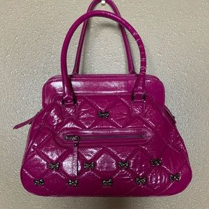Vintage Betsey Johnson Bow-Studded Purse